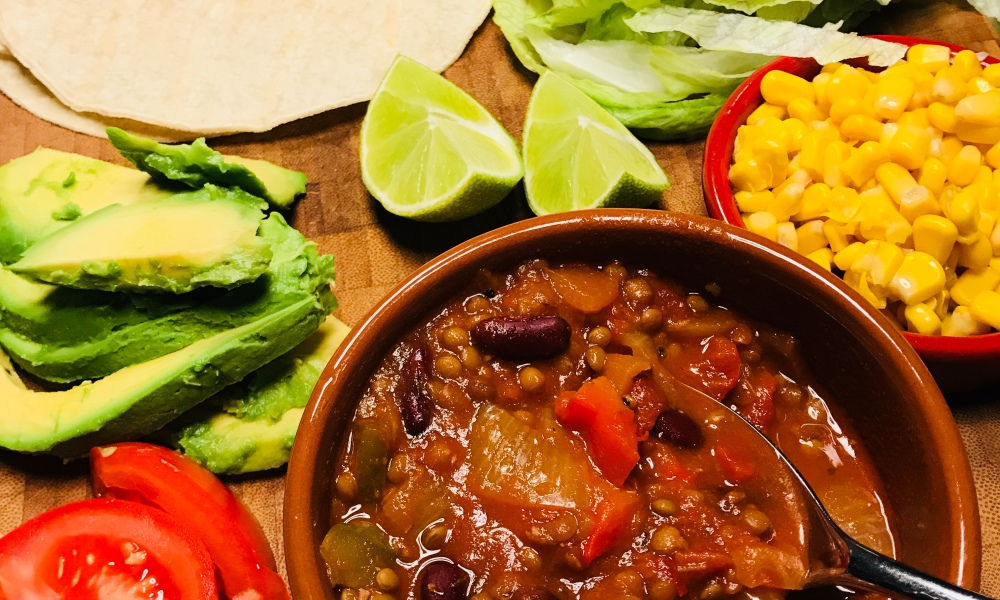 Vegetarian Burritos with Chilli Sin Carne
