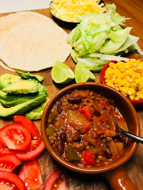 Vegetarian Burritos with Chilli Sin Carne