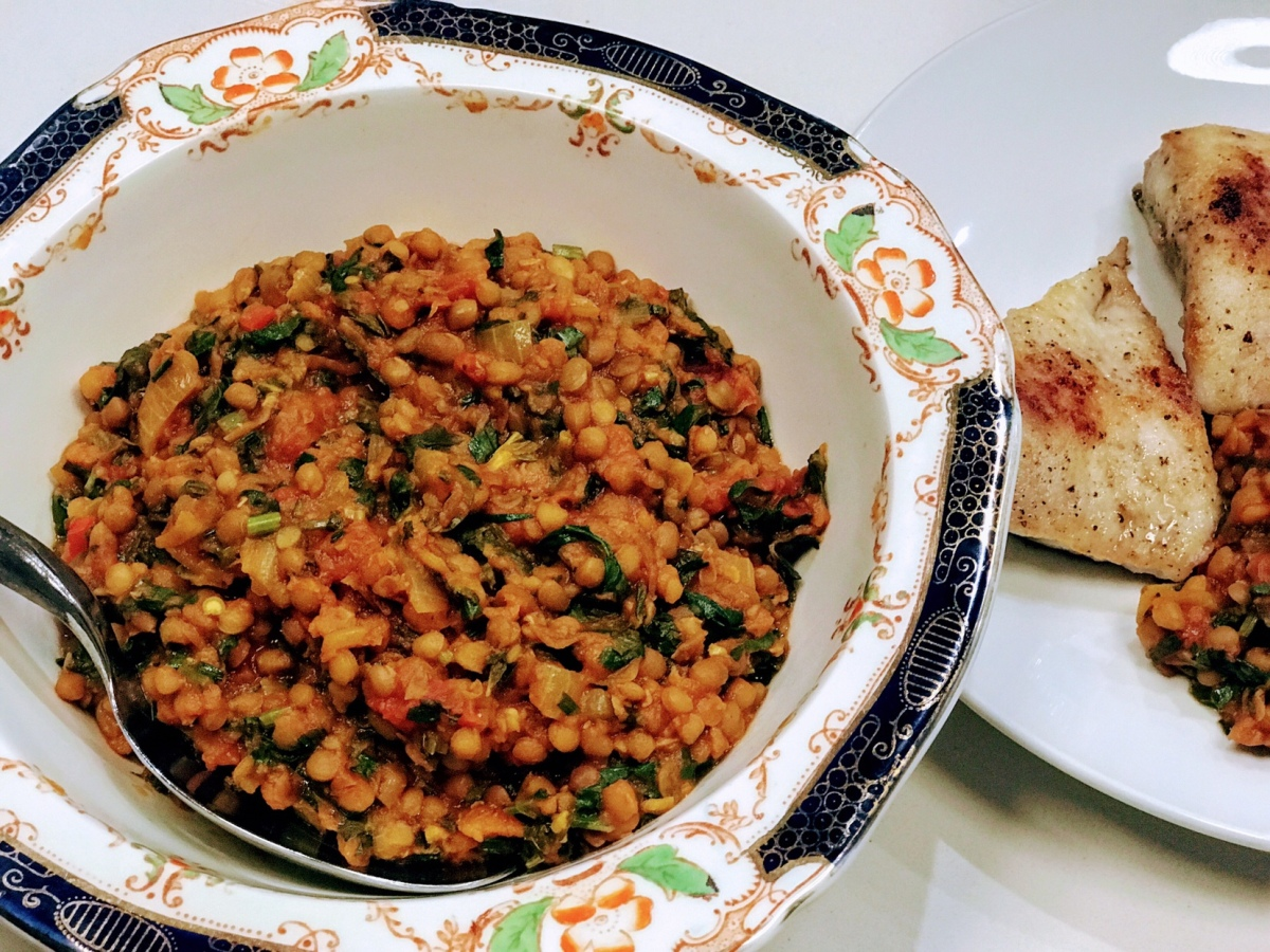 A One-Pot Recipe of Lentils with Lemon and Herbs