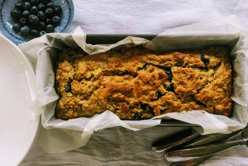 Banana and Blueberry Loaf
